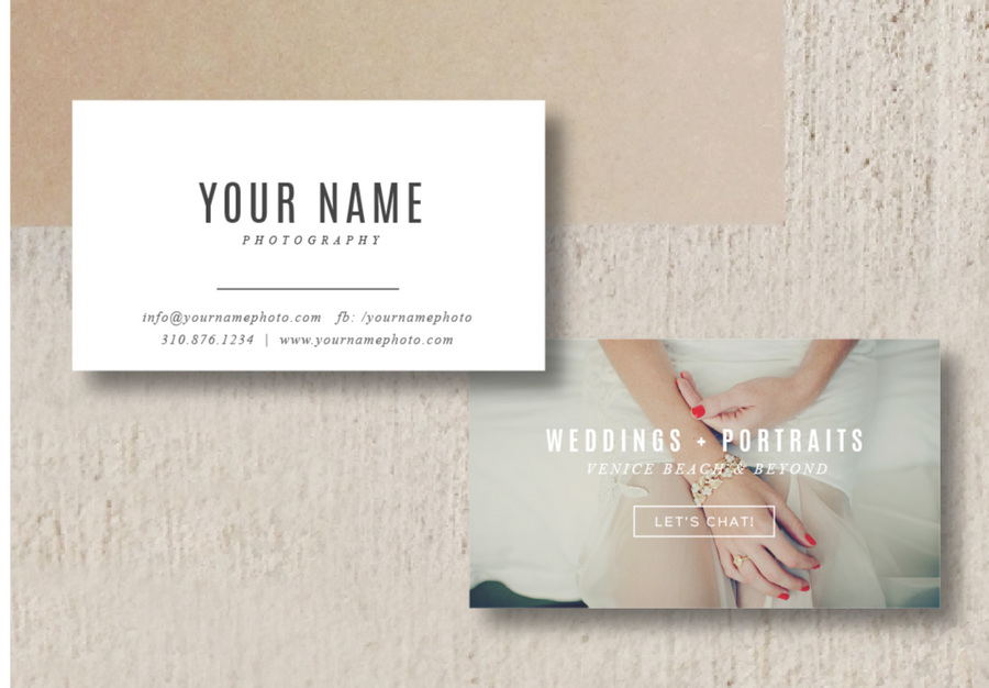 Photographer Business Card Template - Venice