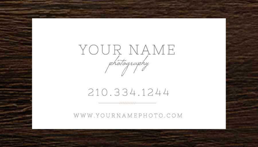 Photography Business Card - Cambria