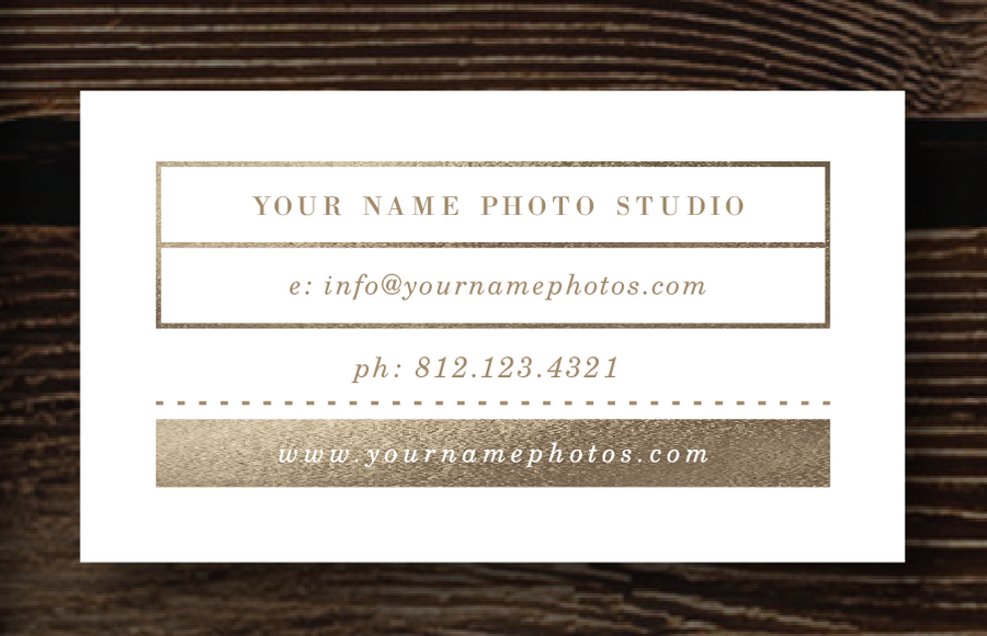 Gold Foil Business Card Design - Lily
