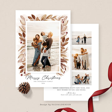 Christmas 5x7 Photo Card | Mocka Foliage