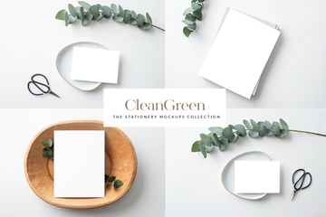 CleanGreen Stationery Collection | 6 Stock Images