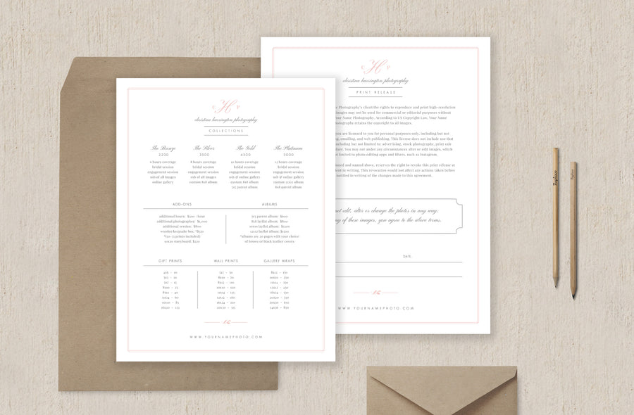 Wedding Photography Contract Template - Eucalyptus