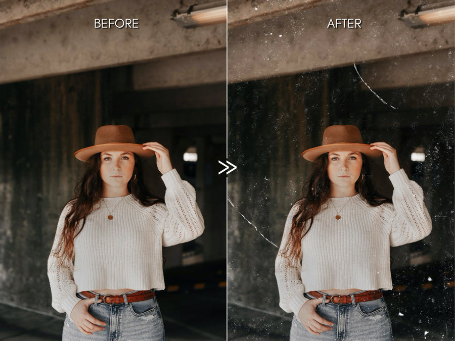 Dust Grain and Scratch Photo Overlays for Photoshop