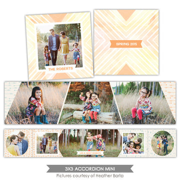 Neutral accordion mini 3x3 | Sunshine book