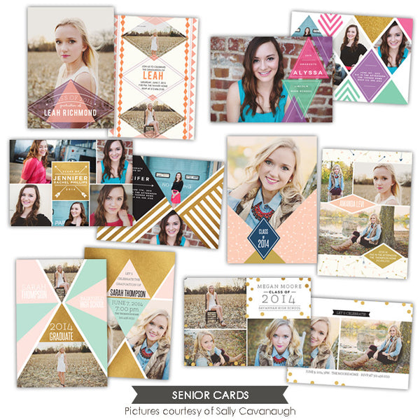 Grad announcements bundle | Golden age
