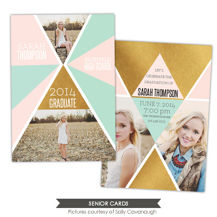 Grad announcement | Gold triangles