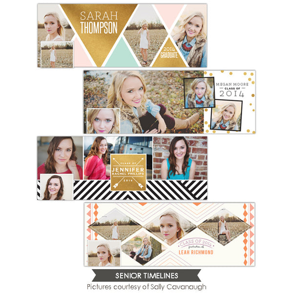 Facebook cover bundle | Gold diamonds
