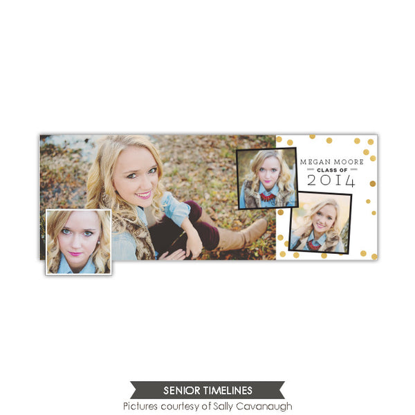 Facebook timeline cover | Gold confetti