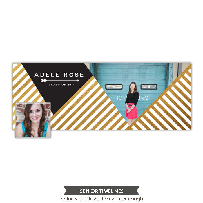 Facebook timeline cover | White and gold