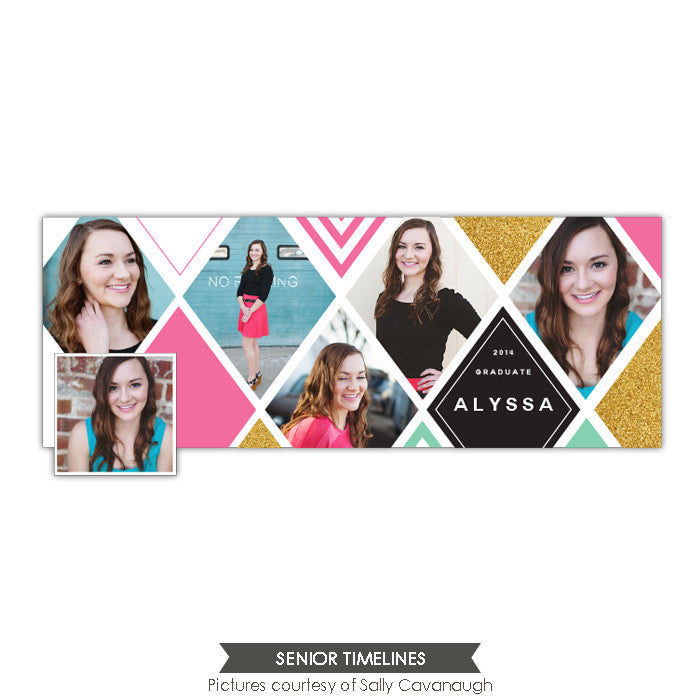 Facebook timeline cover | Diamond collage