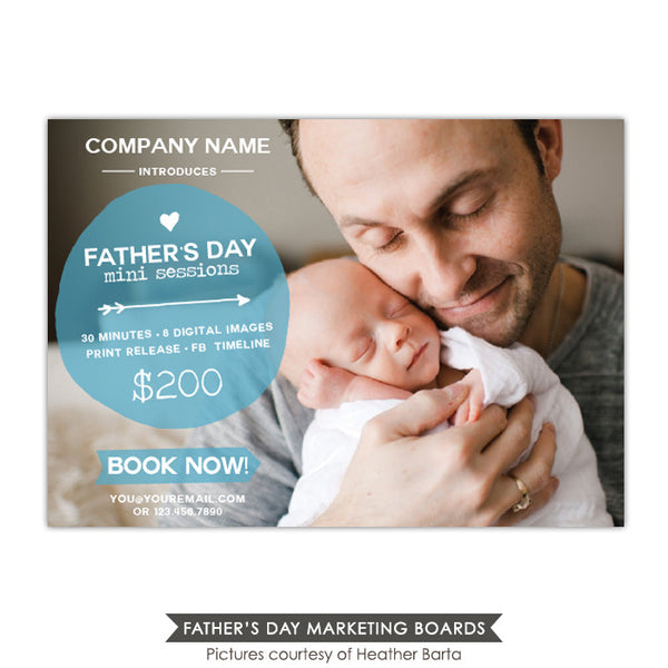 Photography Marketing board | Daddy's hugs