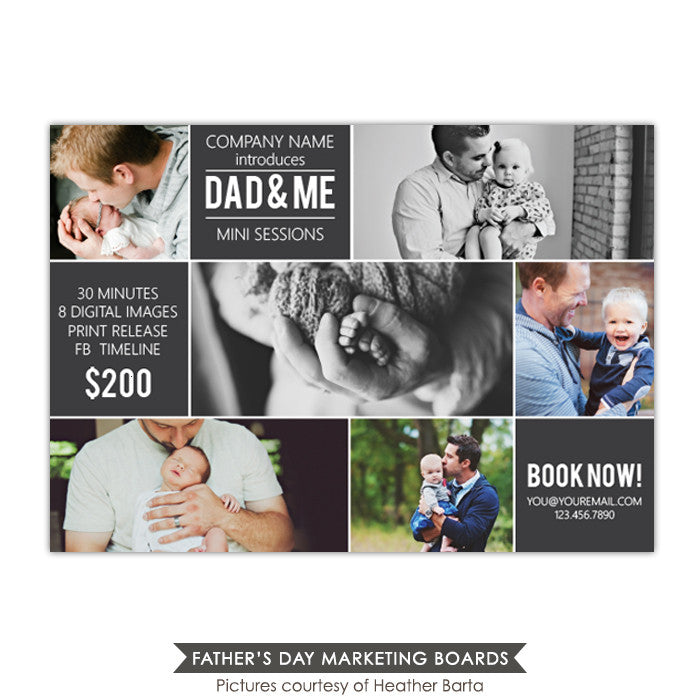Photography Marketing board | Dad & Me