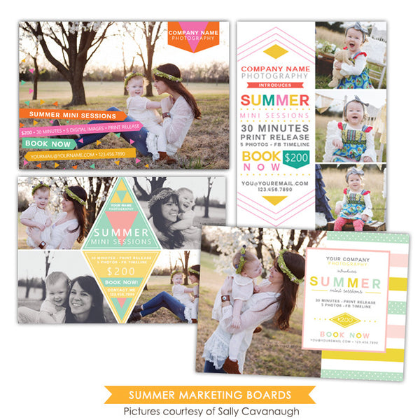 Photography Marketing boards bundle | Summer Minis