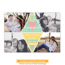 Photography Marketing board | Yellow triangles