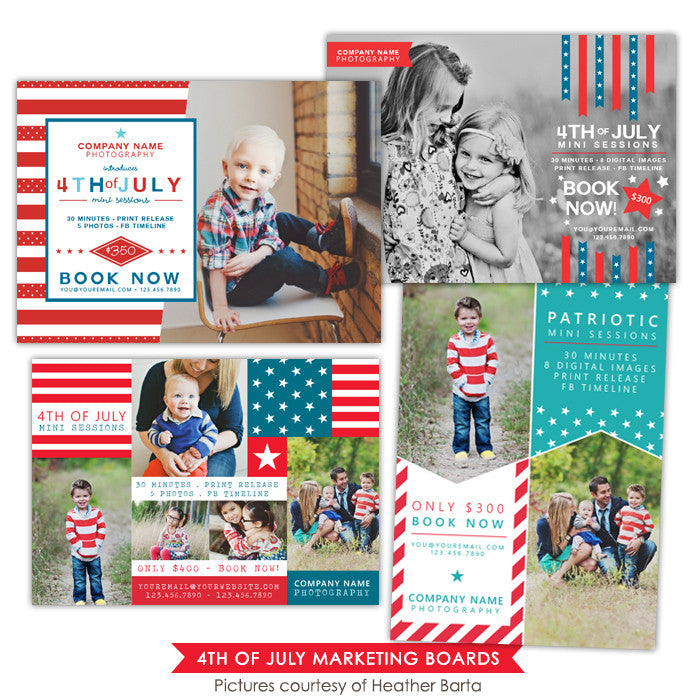 4th of July Marketing boards bundle | Patriotic day