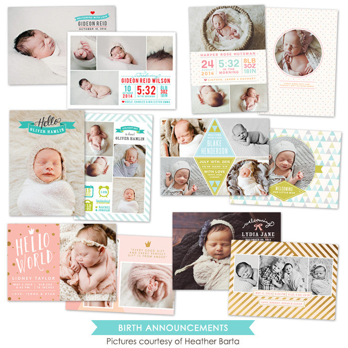 Birth Announcements bundle | Lettering Style