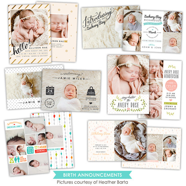 Birth Announcements bundle | Modern welcome
