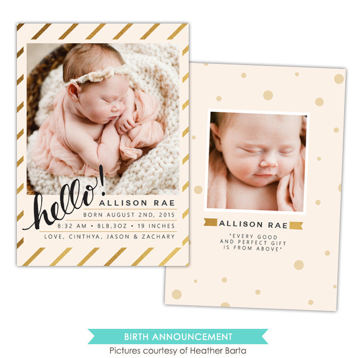 Birth Announcement | Hello princess