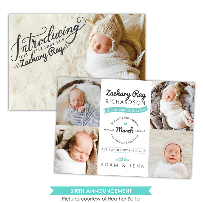 Birth Announcement | Introducing Zachary