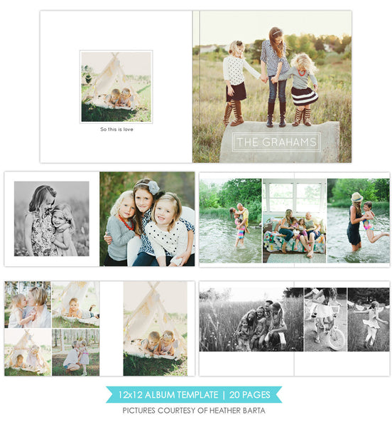 Pure essential  | 12x12 Album template
