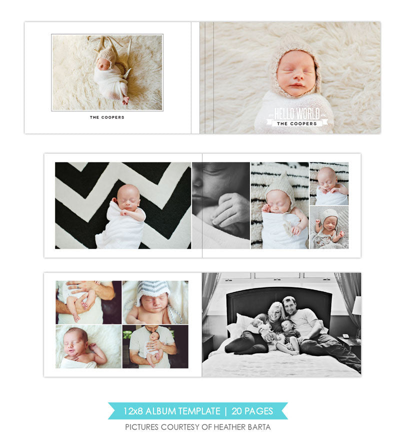 White luxury | 12x8 Album template