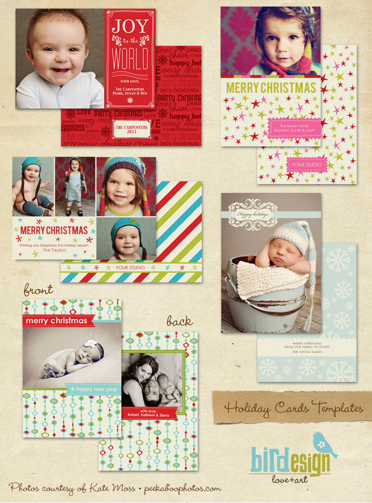 Holiday Photocards Bundle | Be merry