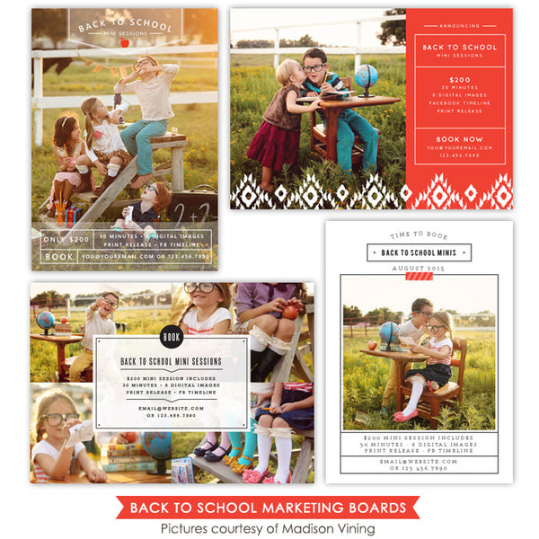 Back to School Marketing boards bundle | School season