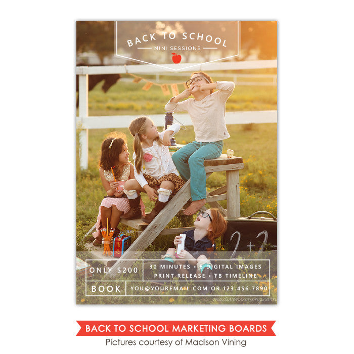 Back to School Marketing board | School friends