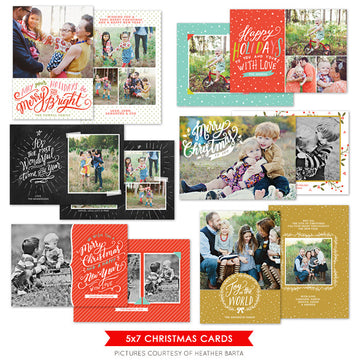 Christmas Photocards Bundle | Bright Holidays Set