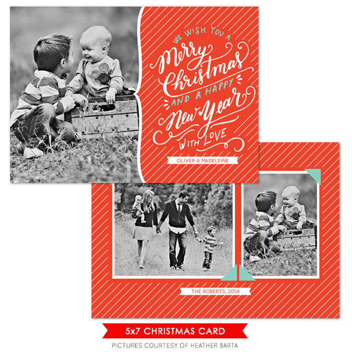Christmas Photocard Template | Classic Wishes