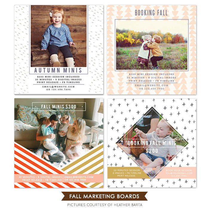 Square Marketing boards bundle | Fall arrived