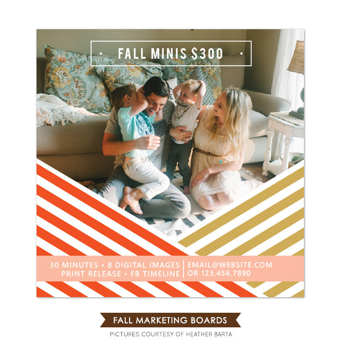 Square Marketing board | Fall stripes