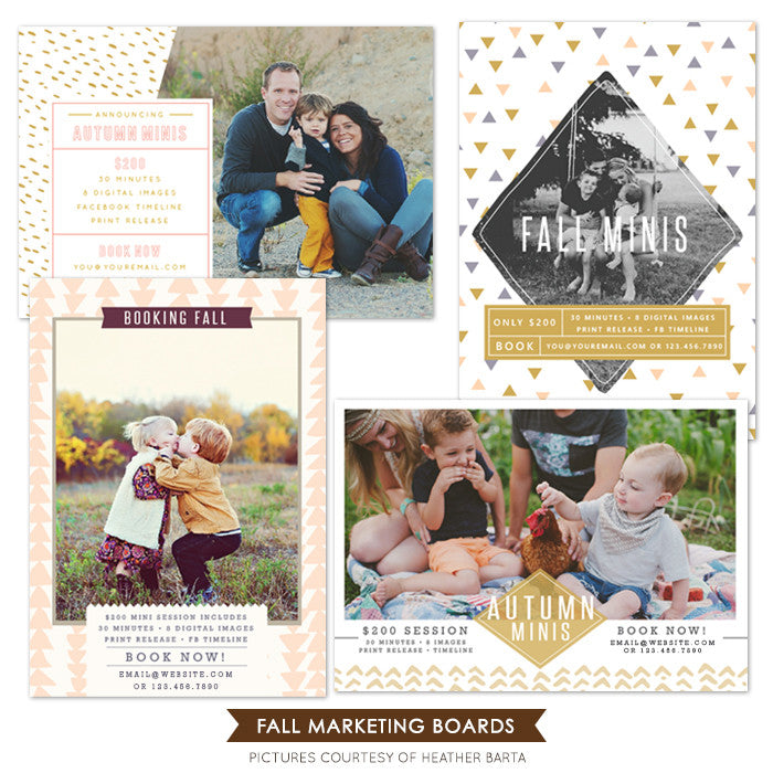 Photography Marketing boards bundle | Fall announcements