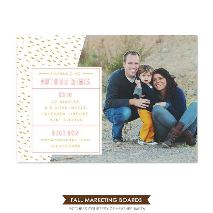 Photography Marketing board | Fall announce