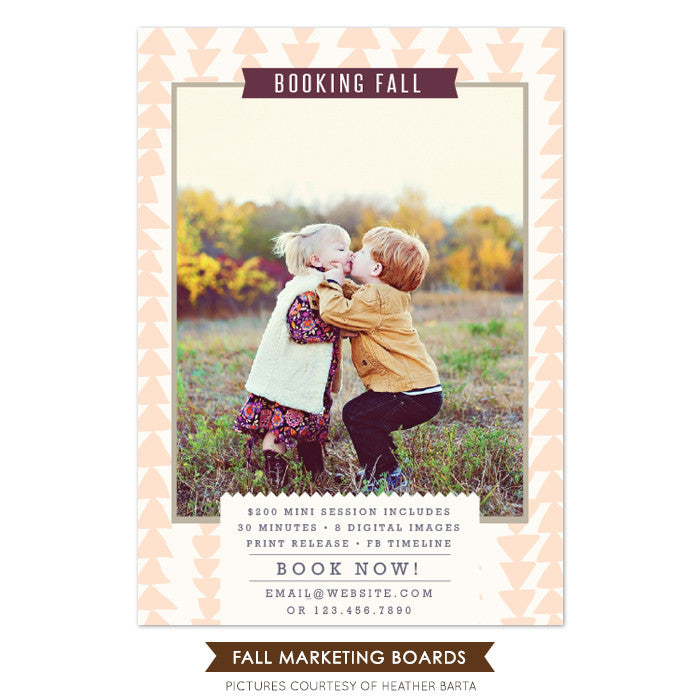 Photography Marketing board | Baby kiss