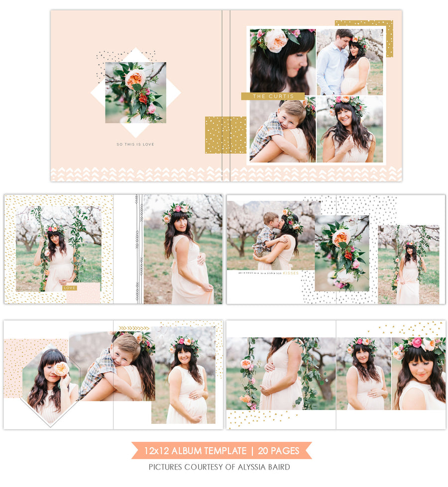 Romantic Garden |  12x12 Album template
