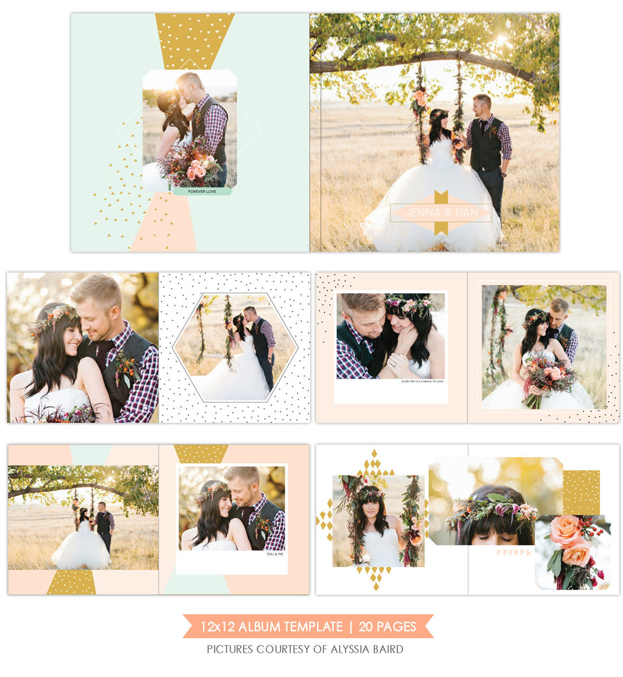 Candy Geometric |  12x12 Album template