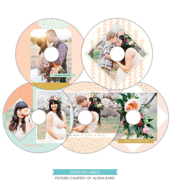 CD/DVD labels set | Magical sweetness