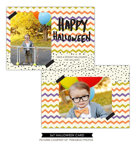 Halloween Photocard Template | Colorful Halloween