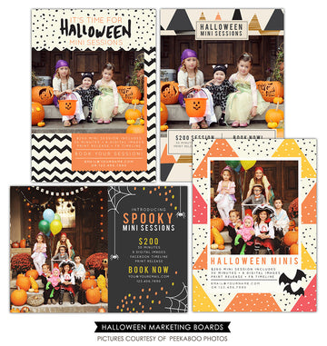 Photography Marketing boards bundle | Halloween Sessions