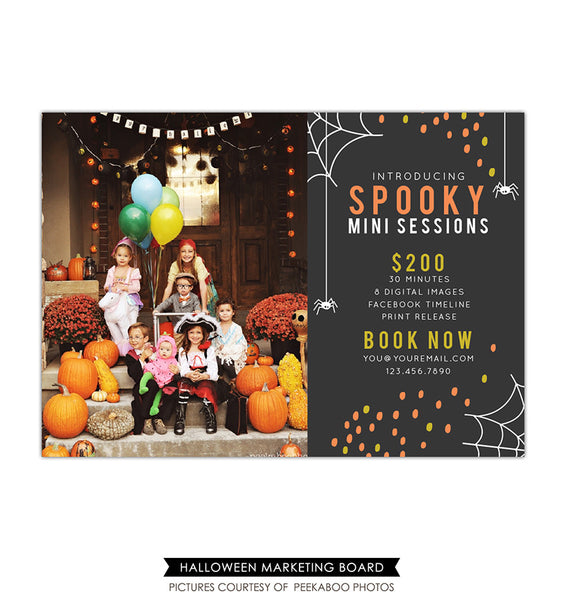 Photography Marketing board | Spooky minis