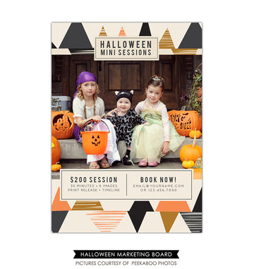Photography Marketing board | Halloween minis