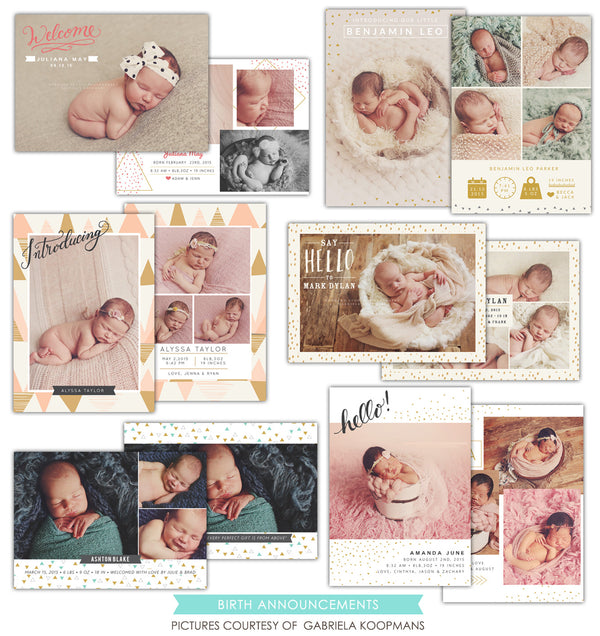 Birth Announcements bundle | Little surprises
