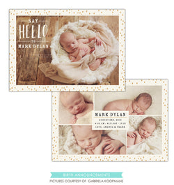 Birth Announcement | Hello Mark