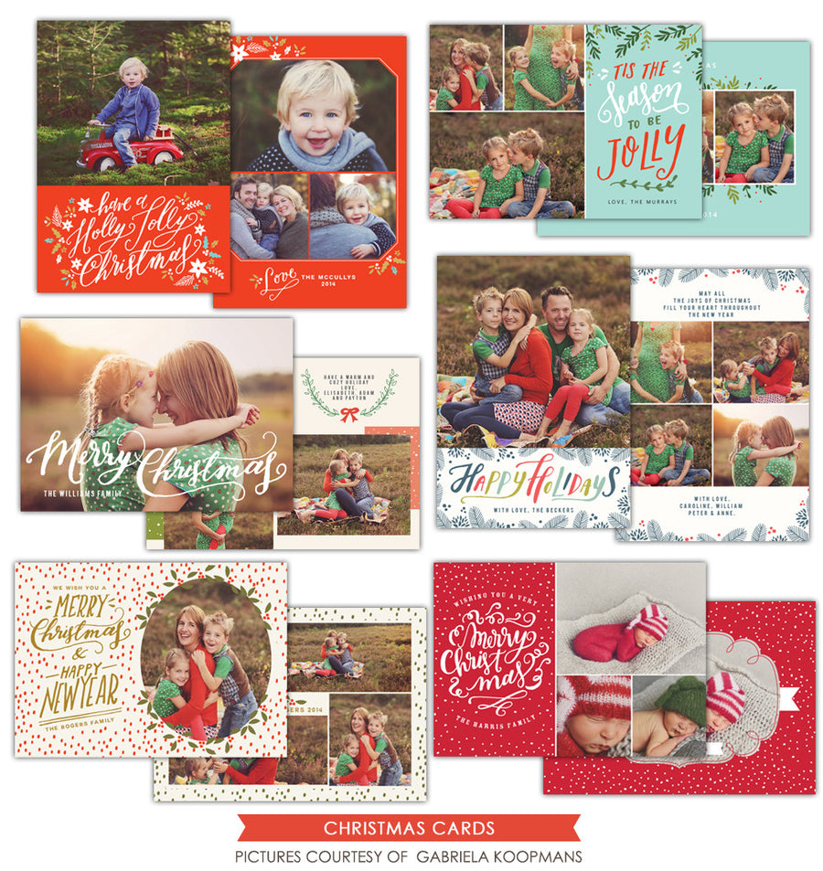 Christmas Photocards Bundle | Jolly Season