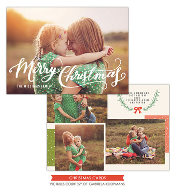 Christmas Photocard Template | Cozy Christmas