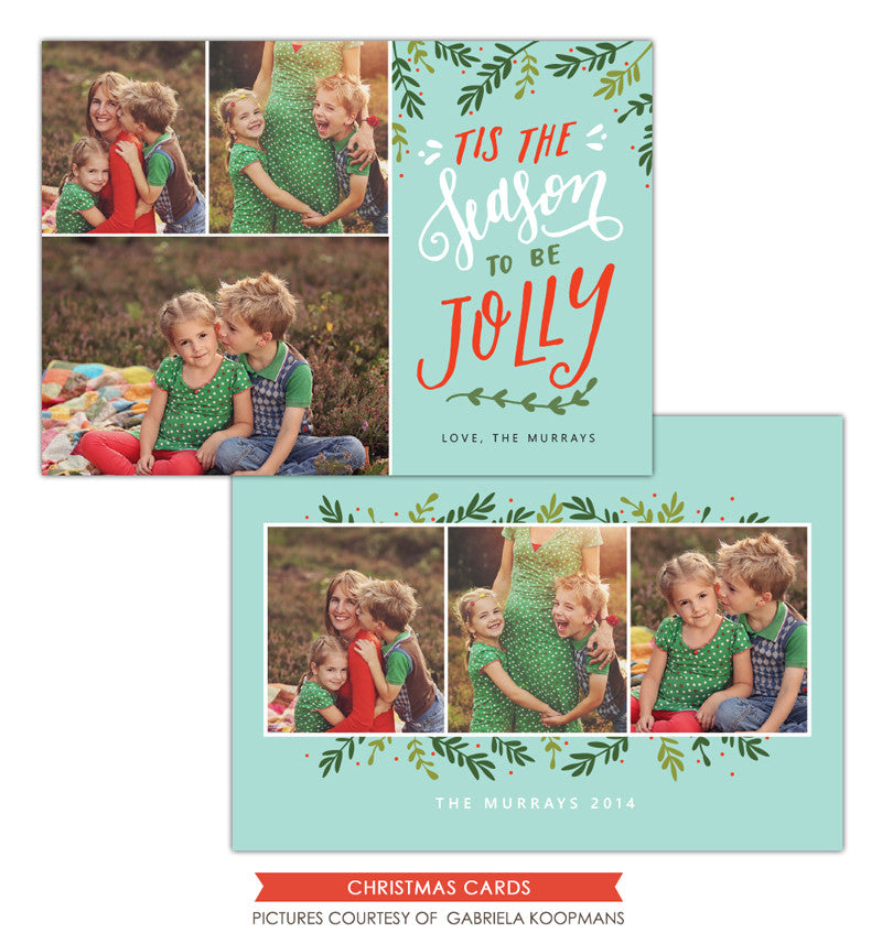 Christmas Photocard Template | Season to be Jolly