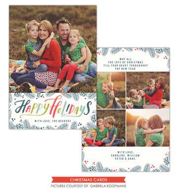 Christmas Photocard Template | Winter Wishes