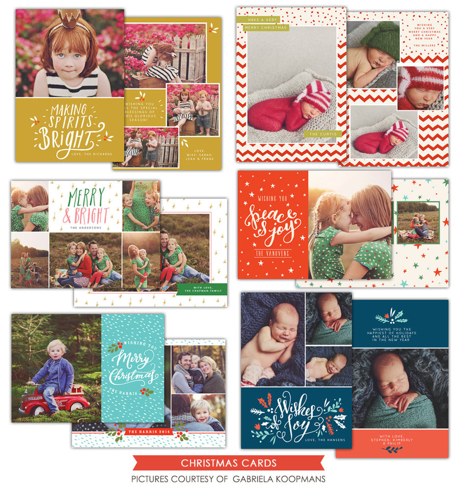Christmas Photocards Bundle | Spirits Bright