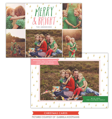 Christmas Photocard Template | Bright Memories